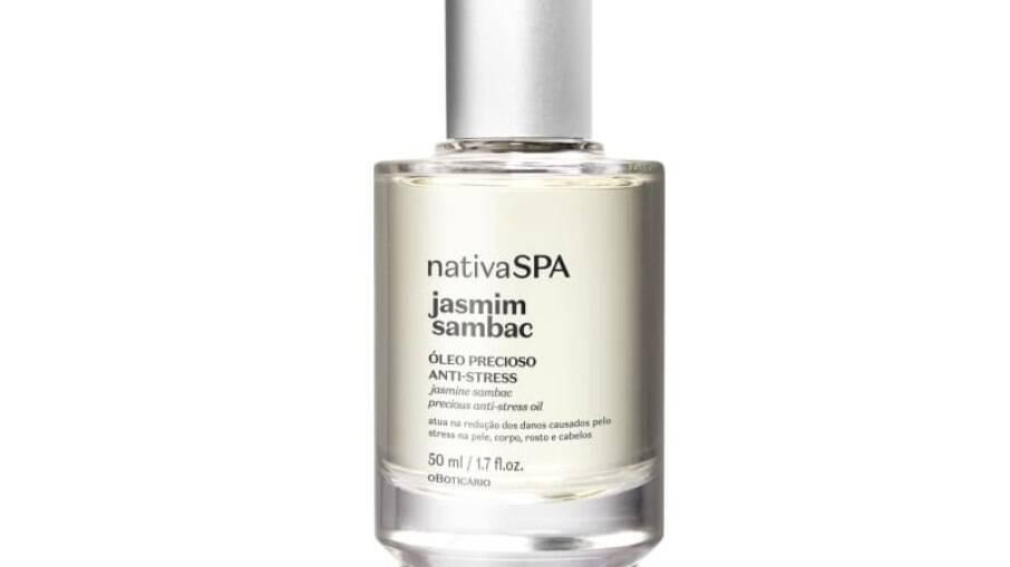 O Óleo Precioso Multibenefícios para Pele e Cabelo Nativa SPA Jasmim Sambac pode ser usado nos cabelos, rosto e corpo
