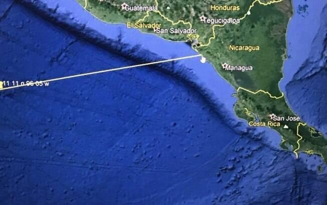 Imagens de satélites do Departamento de Segurança dos Estados Unidos alertam para possibilidade de tsunami em El Salvador