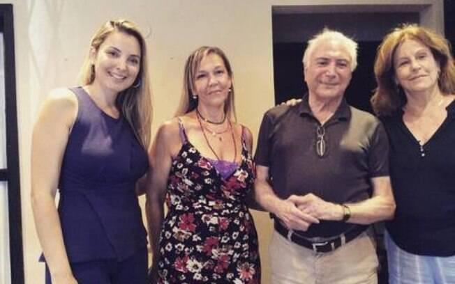 Michel Temer e Marcela participaram de uma confraternização em Itu em fevereiro