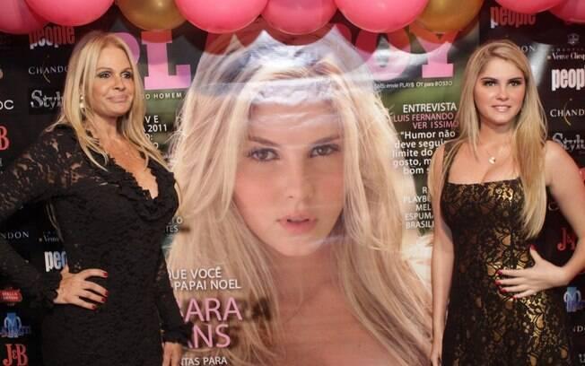 Monique Evans orgulhosa no lançamento da revista da filha, Bárbara Evans