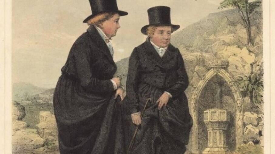 As senhoras de Llangollen, pintura de James Henry Lynch