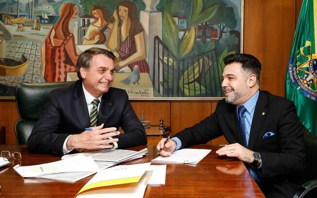 Jair Bolsonaro e deputado Marco Feliciano