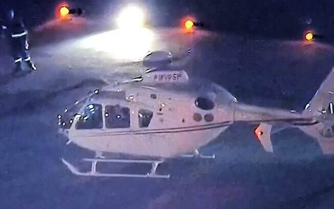 Lula foi ao aeroporto de Congonhas por meio de um helicóptero do governo do estado de São Paulo