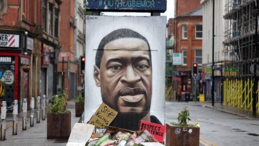 Além dos protestos, muitas homenagens foram feitas após a morte de George Floyd