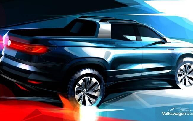 Picape conceitual da VW, que será mostrada no Salão do Automóvel 2018, terá traços do novo utilitário esportivo  T-Cross