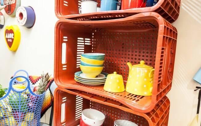 Esses caixotes podem ser encontrados em feiras e supermercados. Espaço Bricolagem - Mega Artesanal 2014
