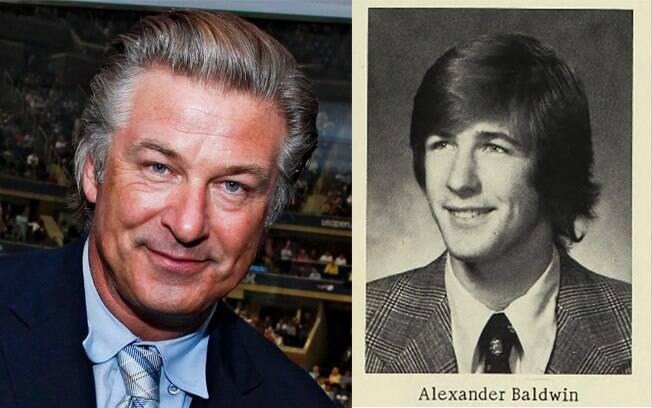 Alec Baldwin também já tinha seu charme em 1976 no Alfred G. Berner High School, em Nova York