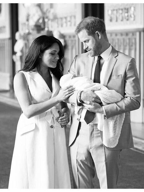 Príncipe Harry e Meghan Markle com Archie