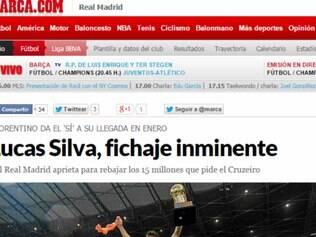 O jornal Marca publicou nesta terça-feiram, três reportagens sobre o volante Lucas Silva