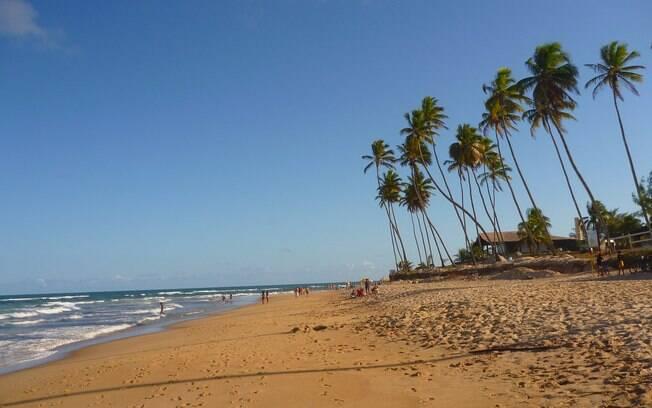 A praia de Muro alto, com a maré baixa