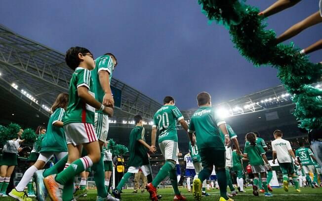Palmeiras e Cruzeiro se enfrentam no Allianz Parque, em São Paulo. Foto: Alexandre Schneider/Getty Images