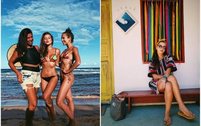 Famosas! Giovanna Lancellotti curte domingo de sol na Bahia