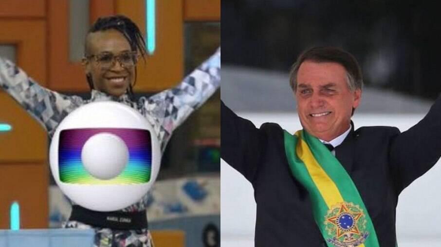 Karol Conká e Jair Bolsonaro