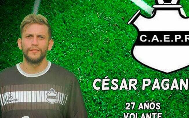 Cesar Pagani, jogador do Escuela Presidente Roca de Córdoba