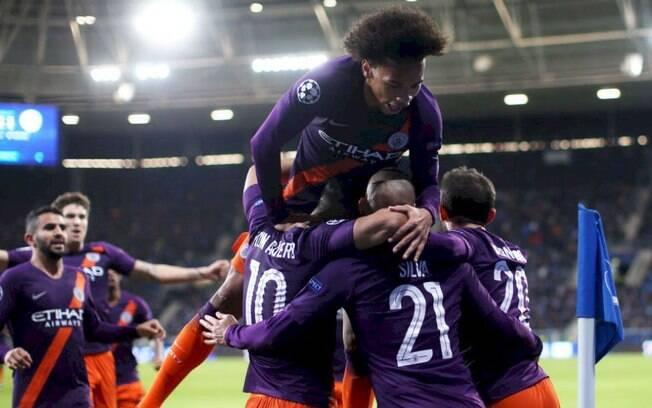 O Manchester City de Guardiola venceu o Hoffenheim pela Liga dos Campeões