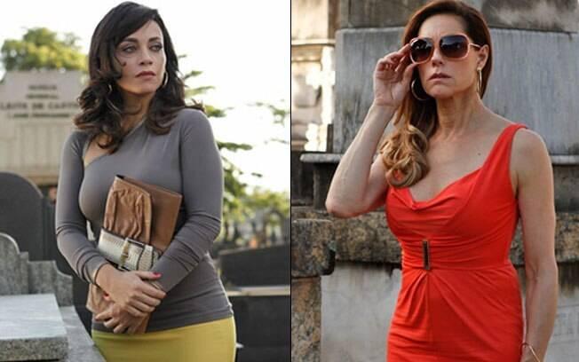 Tereza Cristina (Christiane Torloni) fica em choque quando vê Marcela (Suzana Pires)