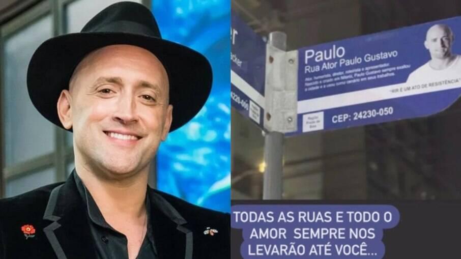 Paulo Gustavo ganha placas de rua com o nome dele em Niterói