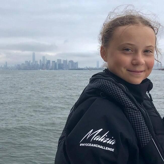 Greta Thunberg no veleiro