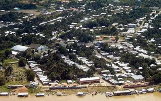 Município de Atalaia do Norte, distante 1.325 km de Manaus