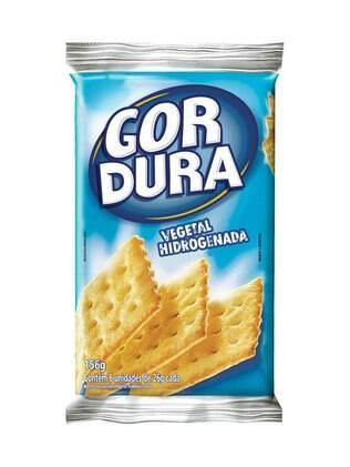 Biscoito salgado = Gordura Vegetal