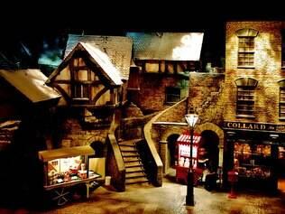 O Dickens World retrata a Inglaterra urbana dos anos de 1800