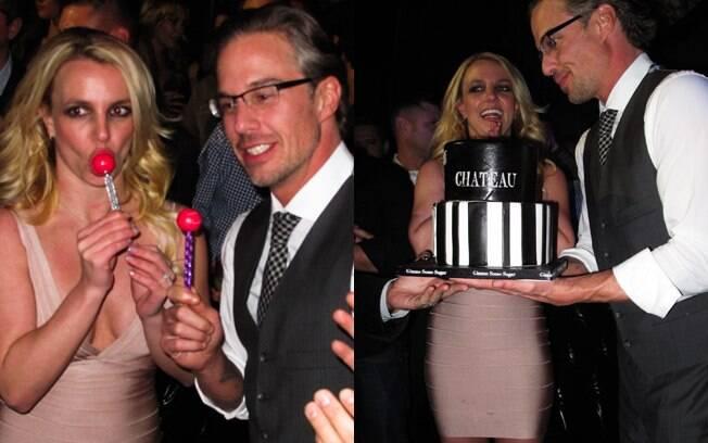 Britney Spears na festa de aniversário de seu noivo, em Las Vegas