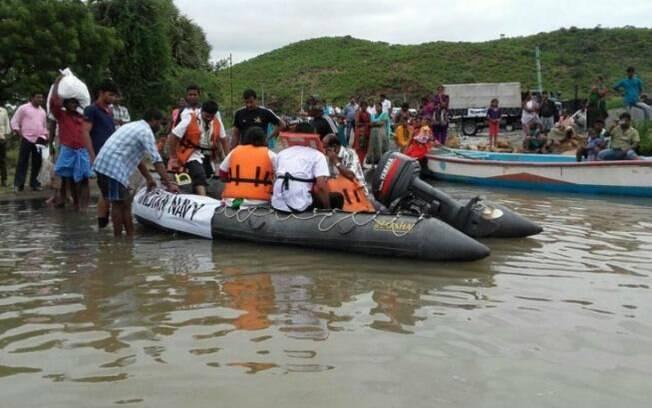 Chuvas atingem a Índia há mais de uma semana