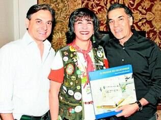 Encontro: Flávio Geo, Maria Elvira Sales e Massoud Eftekhari, em coquetel promovido pela Visa Turismo