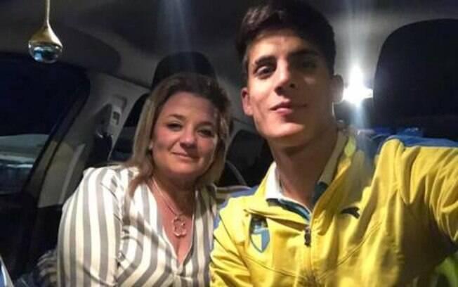 Tiago Ramos com Rita Cumplido, que seria sua ex-namorada