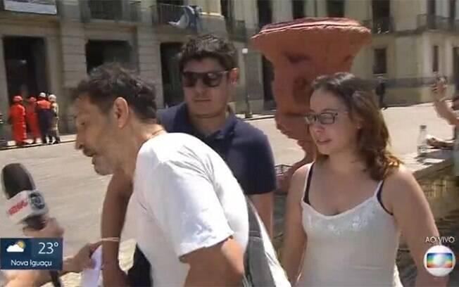 Homem invade link ao vivo da rede Globo e protesta contra a emissora