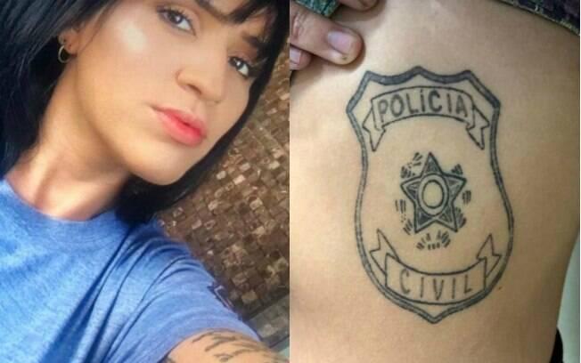Raquel foi presa com vasto arsenal para se passar por policial civil