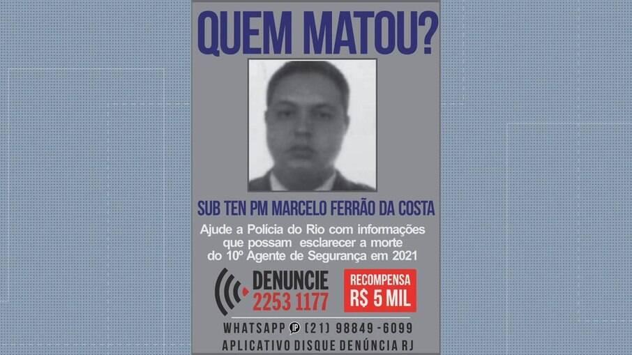 Portal dos Procurados divulga cartaz sobre a morte de PM