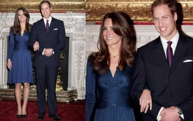 William e Kate fizeram o anúncio oficial do noivado em novembro de 2010