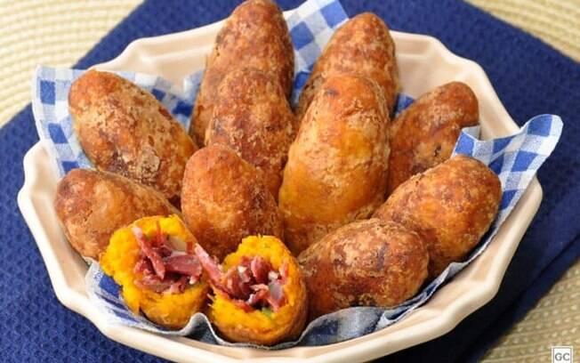 Croquete de abóbora com carne-seca: opção saborosa de aperitivo