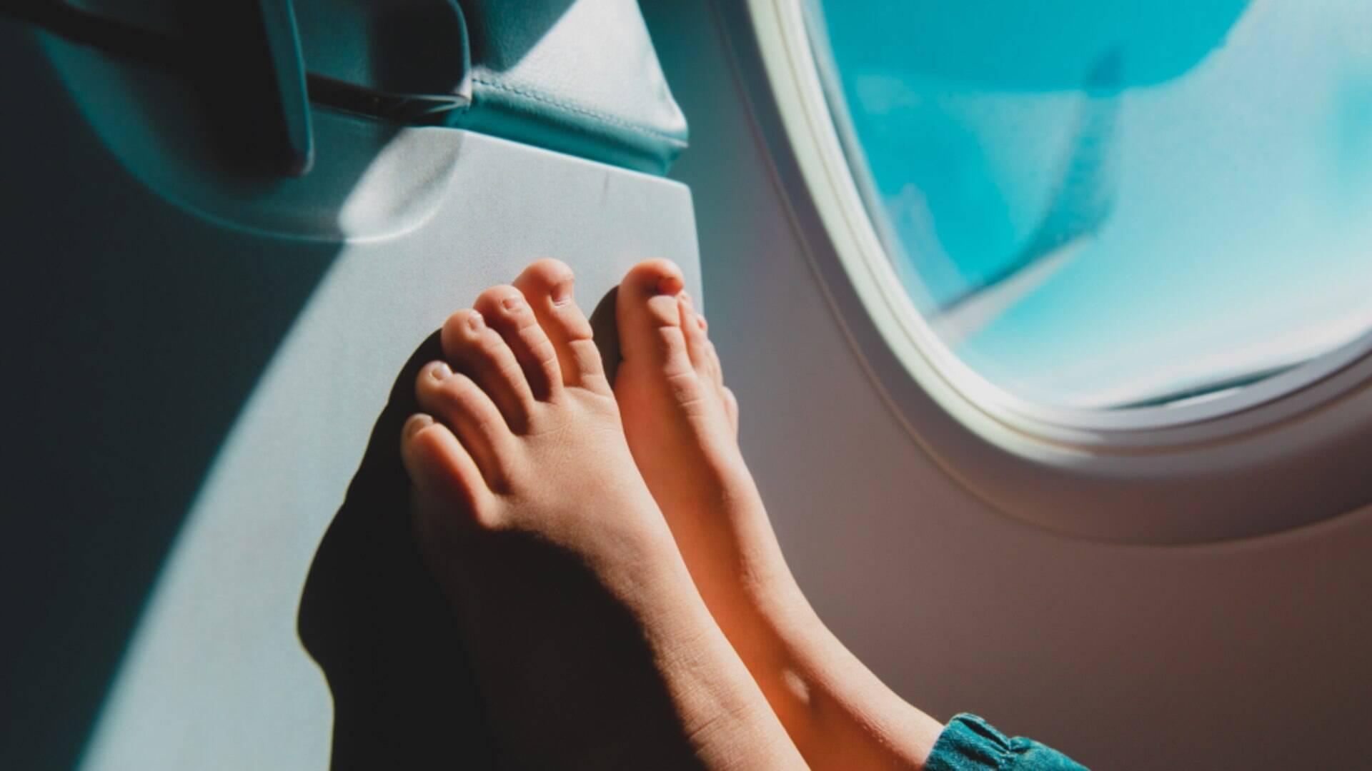 como evitar o inchaço nos voos