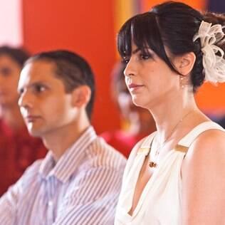 Casal abriu mão de pista de dança em uma cerimônia que primou pela intimidade e pela paz