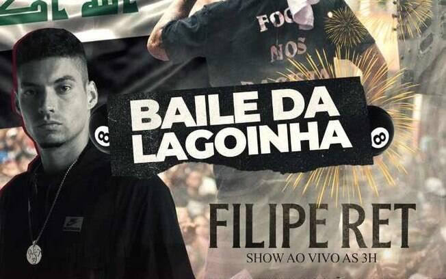 Flyer do Baile da Lagoinha, divulgado nas redes sociais pelos organizadores