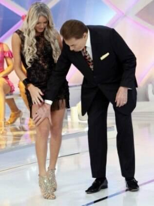 Thalita Zampirolli e Silvio Santos: 'Ele é meu rei'