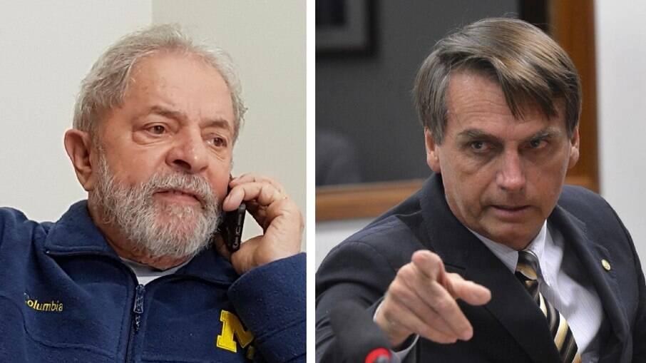 Lula e Bolsonaro; pré-candidatos devem alcançar o segundo turno, revelam pesquisas