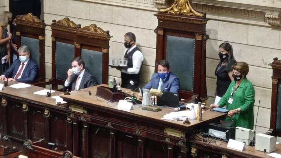 Cerimônia de abertura do ano legislativo da Câmara no RJ