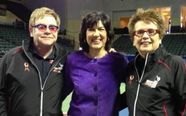 Elton John, Billie Jean King e Christiane Amanpour