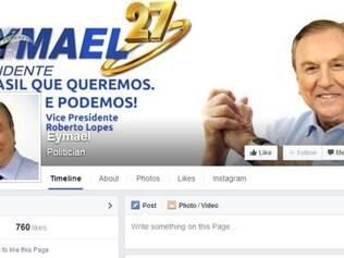 Na lanterna da 'competição' do Facebook, Eymael, o democrata-cristão do PSDC, possui apenas 761 curtidas
