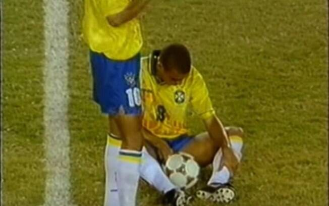 Ronaldo fez xixi durante jogo