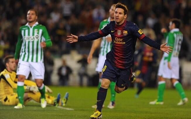 Messi ainda terá mais três jogos em 2012 para  aumentar ainda mais a marca