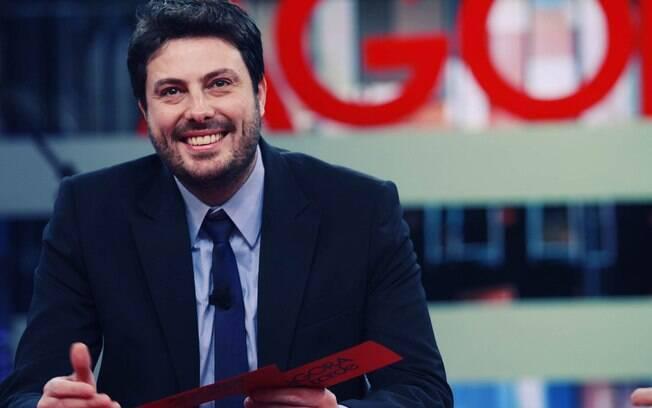 Danilo Gentili no estúdio do