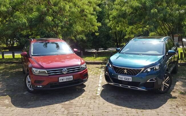 VW Tiguan Allspace x Peugeot 5008: dois entre os SUVs mais legais na faixa dos R$ 150 mil