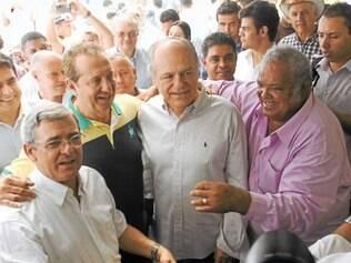 Pinduca participou da caminhada com o candidato a governador Pimenta da veiga (PSDB) na sexta (11)