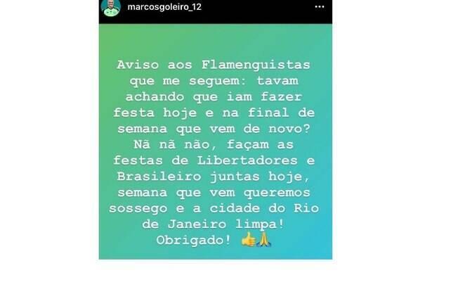 Marcos, ídolo do Palmeiras, provocou Flamengo