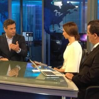 Se perder, PSDB será oposição a Marina Silva, diz Aécio ao iG e à RedeTV!