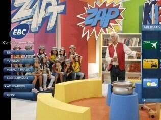 Aplicativos, como da TV Brasil, permitem acessar conteúdo interativo por meio da TV digital